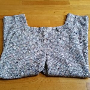 Tory Burch Textured Trousers Size 14 Ankle Crop